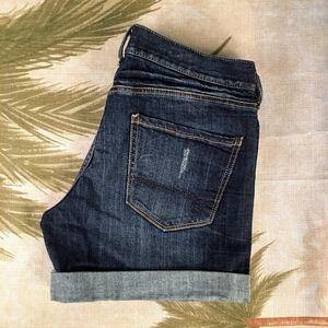 Decree Distressed Cuffed Jean Shorts Size 9